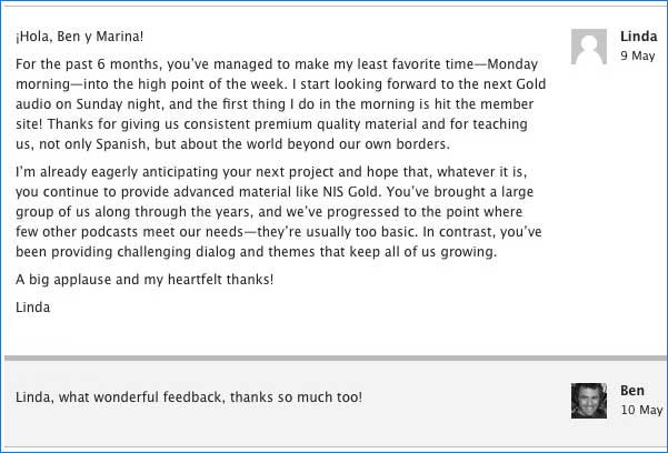 Notes in Spanish Gold Season One Comment