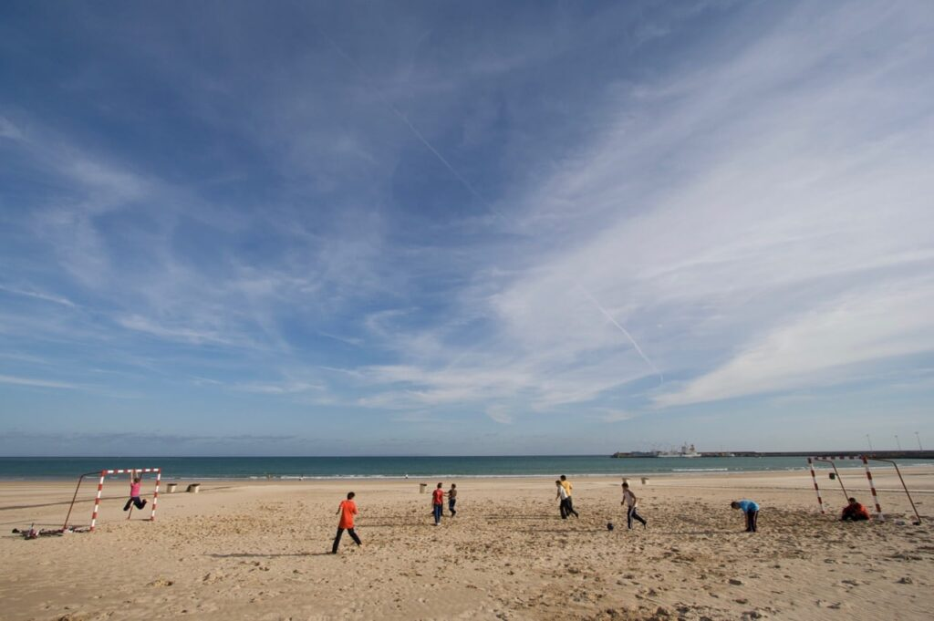 Beach football, Barbate, Andalucia